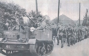 Linds leads German POW group out of Holland Panorama1