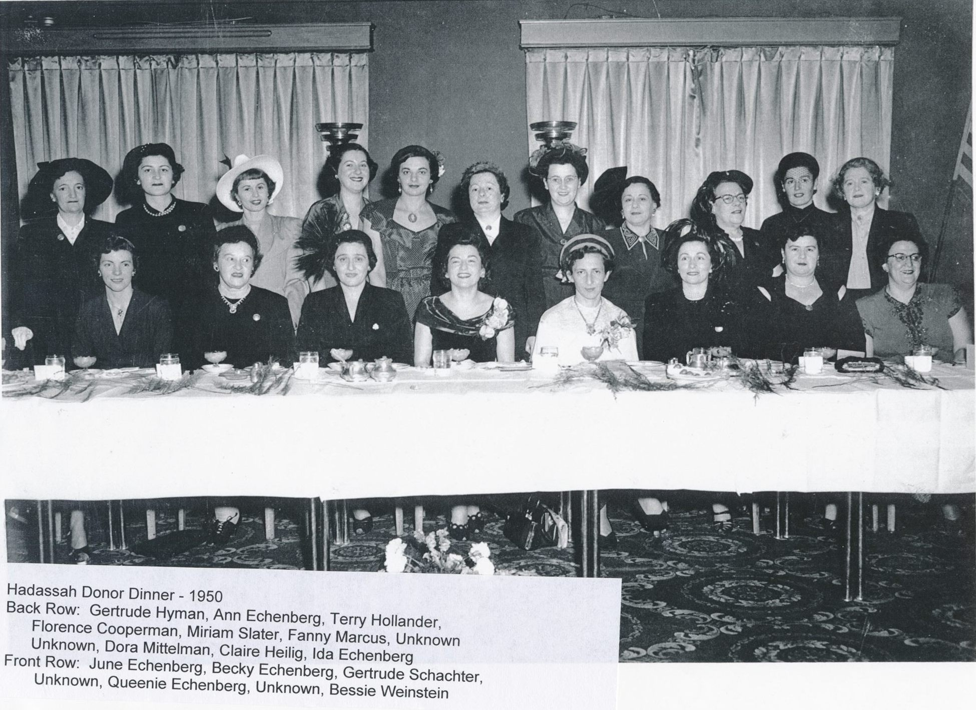 Sherbrooke Hadassah Dinner 1950